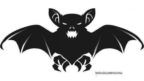 Halloween for Gabarit chauve souris a imprimer